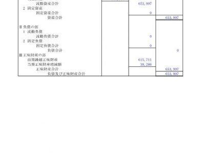 【公告】令和2年度(令和3年6月30日現在)貸借対照表